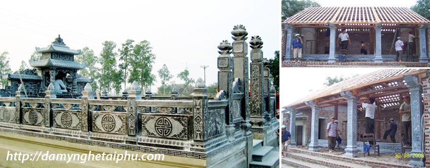 Bảo tháp tại chùa Xuân (chùa Xuân Vũ) chùa của làng nghề Đá mỹ nghệ Ninh Vân, Ninh Bình