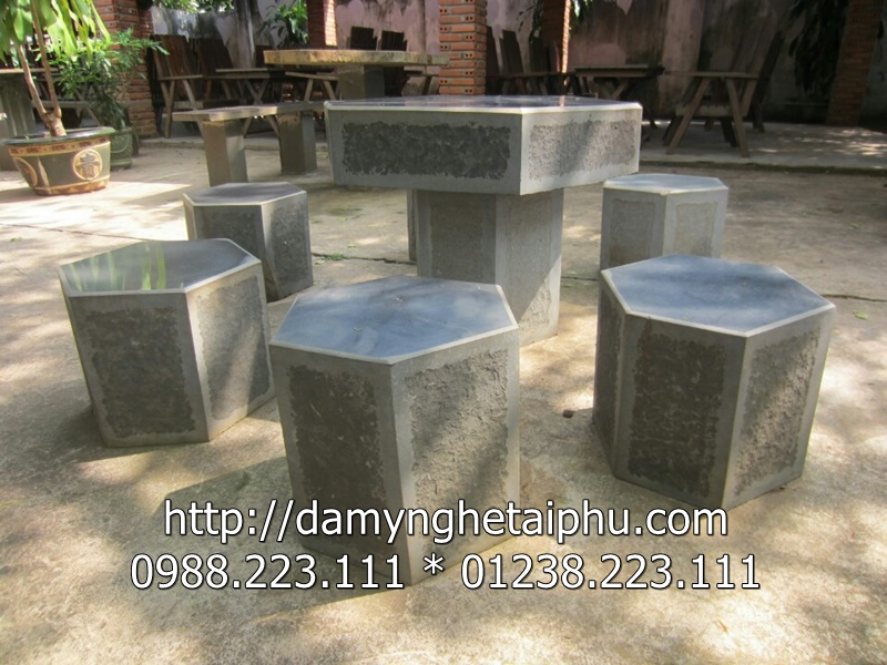 Bàn ghế đá 7