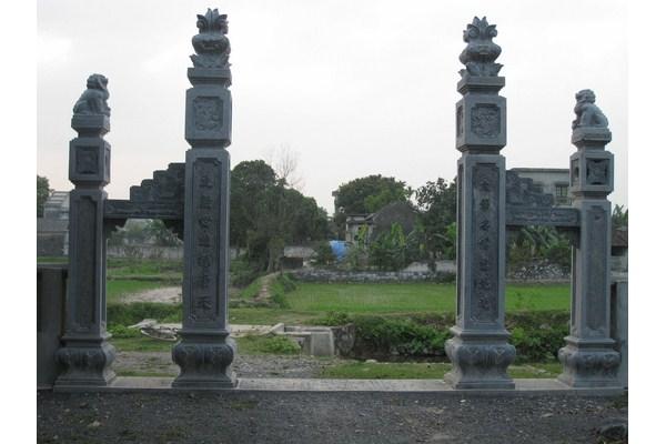 Làm cột đá nhà thờ họ-3