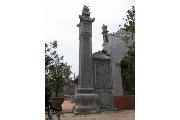Làm cột đá nhà thờ họ tại Bắc Ninh