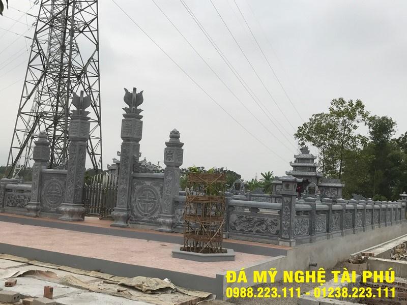 Xây lan can đá tại Tuyên Quang