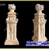 Cột đá cầu thang đẹp cho Biệt Thự