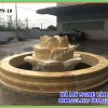 Đài phun nước đá hình bông sen vàng