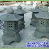 Đèn đá trang trí làm từ đá xanh rêu 12