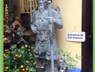 Làm Bộ tượng hộ pháp đá cho Đền Tiên Hạ – Hà Nội