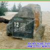 Làm Biển đá chỉ đường tại Quảng Bình