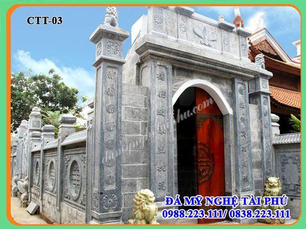 Cong da dep, Mẫu Cổng đá đẹp cho đình chùa, nhà thờ