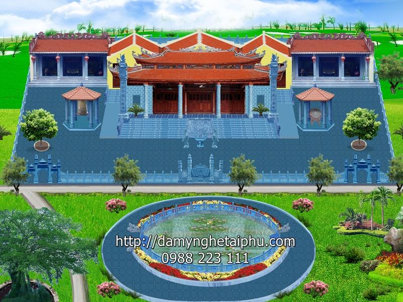 Bảo tháp tại Chùa Xuân (Chùa Xuân Vũ – Chùa của làng đá mỹ nghệ Ninh Vân, Hoa Lư, Ninh Bình)