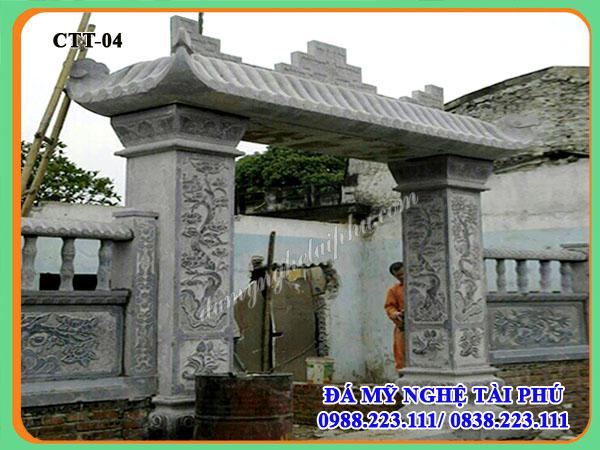 Cổng nhà bằng đá đẹp 04