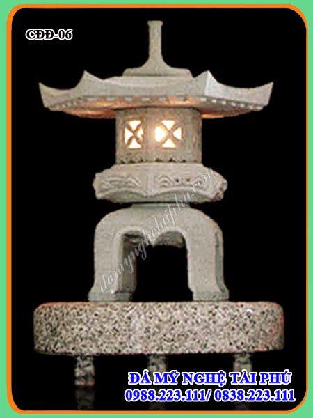 Đèn đá trang trí tieu canh san vuon