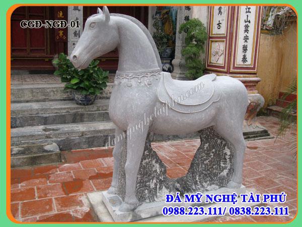 Ngựa đá 01 - Con giống đá