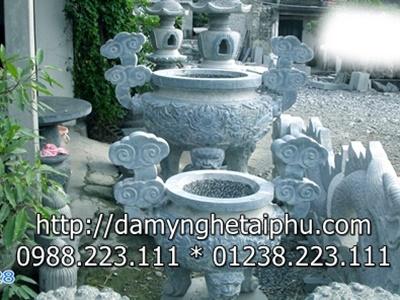 Làm lư hương đá tại Đá mỹ nghệ Tài Phú Ninh Bình
