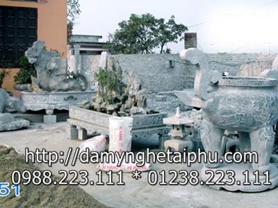 Mẫu lư hương đá của Đá tài Phú Ninh Bình