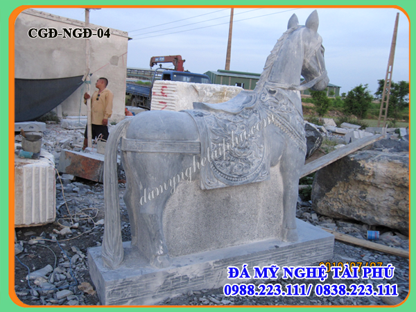 Ngựa đá, Mẫu Ngựa đá đẹp, Tượng con ngựa đá 04, tượng ngựa đá