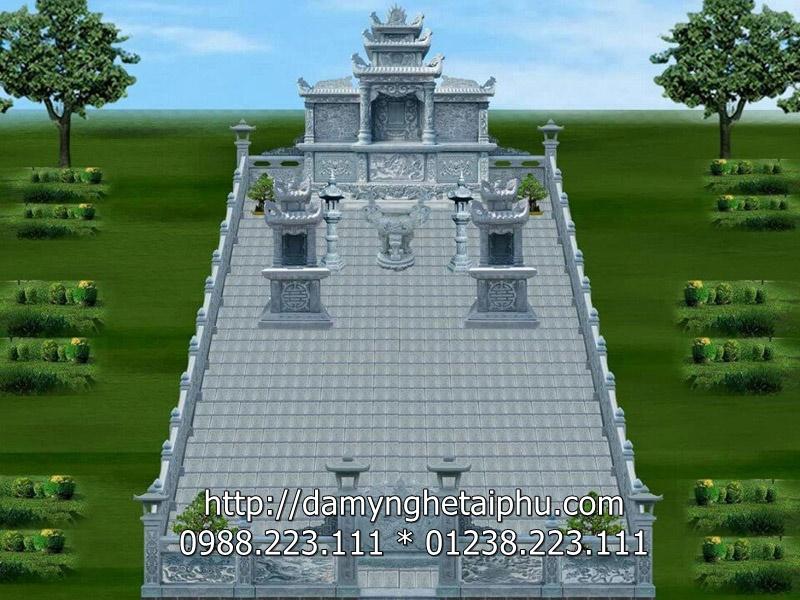 Bản thiết kế khu lăng mộ đá đẹp
