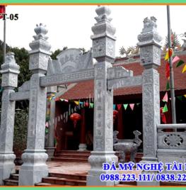 Cổng đá đẹp cho đình chùa