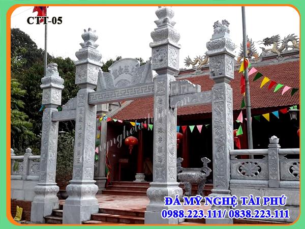 cổng nhà thờ, cổng đình chùa, cổng làng, cống đá, cổng tứ trụ, cong da dep
