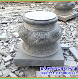 Chân cột đá, tảng bồng đá tại Ninh Thuận