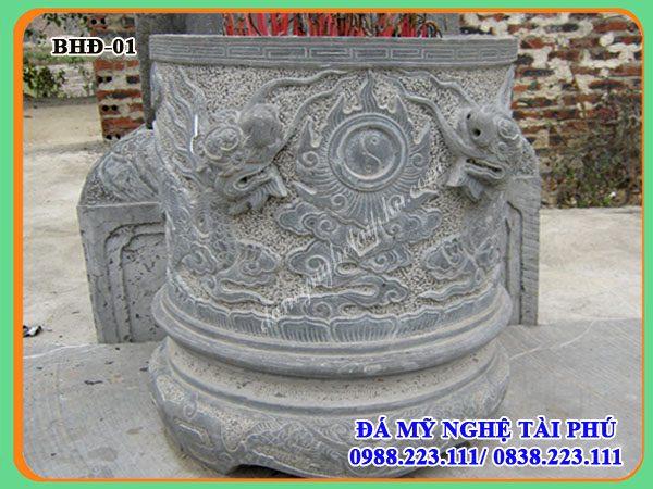 Bát hương đá 01, bát hương đá cho Đình chùa, nhà thờ, bát hương bằng đá