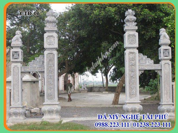Cột Cổng tứ trụ đẹp, Cột đá, cột Cổng đá