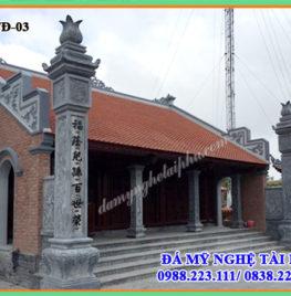 Làm cột đá nhà thờ họ tại Thái Bình
