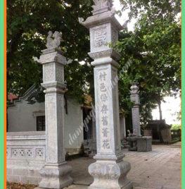 Làm cột trụ đá nhà thờ họ tại Bắc Giang