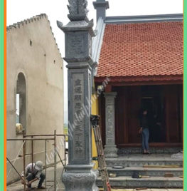Làm cột đá nhà thờ họ tại Hải Phòng