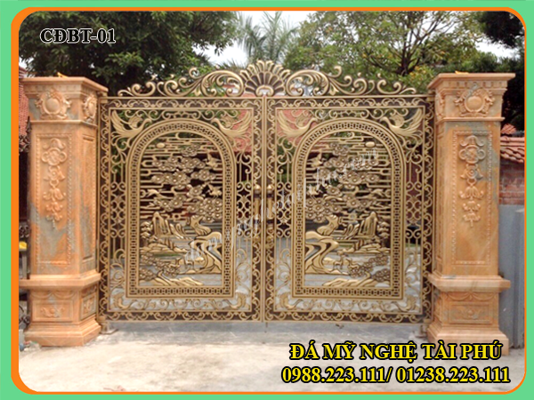 cổng đá biệt thự Tài Phú 01