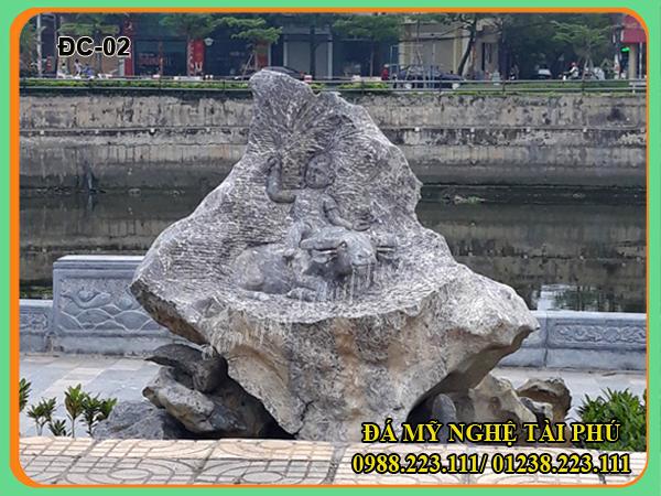 Đá cảnh đẹp Tài Phú làm từ đá tự nhiên 02