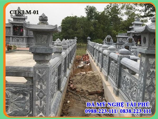 xây lan can đá cho khu lăng mộ Hồ chí minh