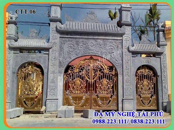 Mẫu cổng đá cho nhà thờ, đình chùa 06