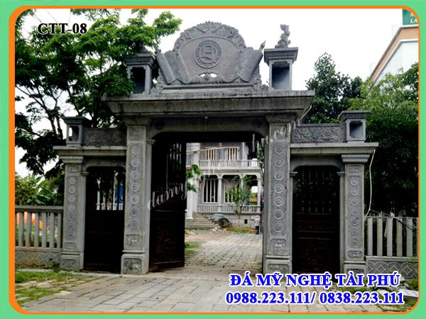 Mẫu cổng đá cho nhà thờ, đình chùa 08, cổng đá, cong da
