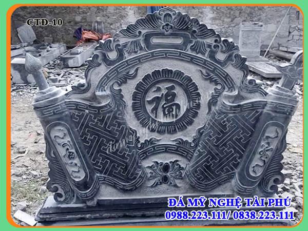 Cuốn thư đá đẹp - Bức bình phong đá đẹp cho khu lăng mộ, đình chùa, nhà thờ