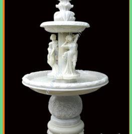 Đài phun nước mini bằng đá trắng tự nhiên