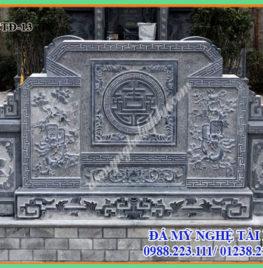 Cuốn thư đá vuông đẹp cho khu lăng mộ đá