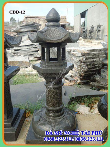 Den da trang tri tieu canh san vuon, đèn đá, đèn đá trang trí sân vườn