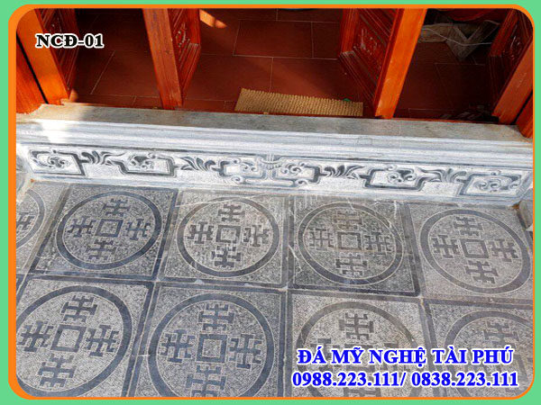 Làm Ngưỡng cửa đá, hoa văn đá lát chữ thọ