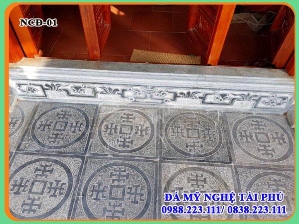 Làm Ngưỡng cửa đá cho nhà thờ cùng đá lát chữ thọ đẹp