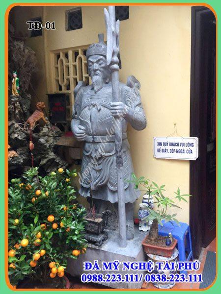 Tuong da-bo tuong ho phap, tuong tu dai thien vuong, bộ tượng hộ pháp bằng đá, Tượng đá
