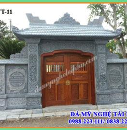 Cổng đá đẹp cho Đình-chùa-nhà thờ họ