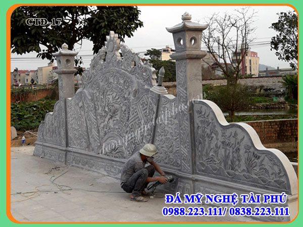 Cuốn thư đá dài 8,13m của Đình làng tiên sơn - Bắc Ninh,cuon thu da, cuốn thư đá, cuốn thư đá khắc rồng, cuốn thư đá khắc hổ phù, cuốn thư đá có cột