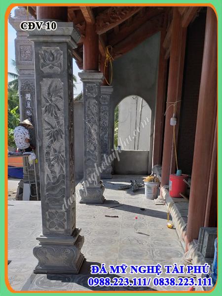 Cot da vuong dep, cột đá, cột đá nhà thờ, cột hiên nhà thờ bằng đá