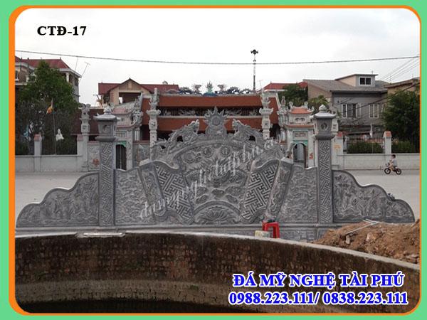 Cuốn thư đá dài 8,13m của Đình làng tiên sơn - Bắc Ninh