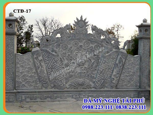 Cuốn thư đá dài 8,13m của Đình làng tiên sơn - Bắc Ninh, cuon thu da, cuốn thư đá, cuốn thư đá khắc rồng, cuốn thư đá khắc hổ phù, cuốn thư đá có cột