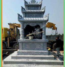 Thiết kế thi công Lăng mộ đá vuông 1,85m Tại Hà Nội