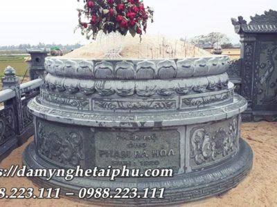 Mẫu Mộ đá tròn Đài SEN phần mộ cụ Ông Phạm Bá Hòa – Mộ đá ĐẸP Tài Phú