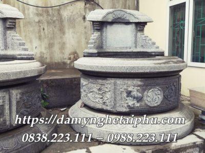 Mẫu Mộ đá tròn có thiết kế giống Mộ cổ của Đá mỹ nghệ Tài Phú