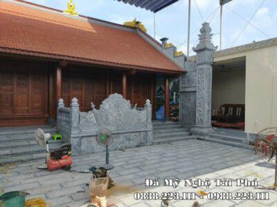 Xây Cột đá – Cột đá vuông, Bậc thềm đá, Cuốn thư đá, Cổng đá cho Nhà thờ họ/từ đường