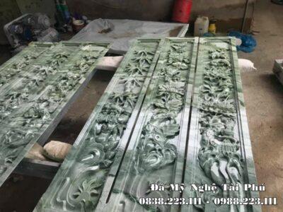 Cột đá đẹp, chân cột đá (tảng cột) đá xanh ngọc, Cẩm Giàng cao cấp Tài Phú