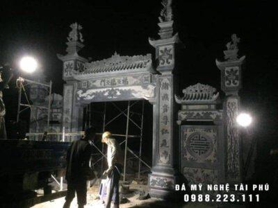 Xây cổng đá đẹp cho Đình Làng